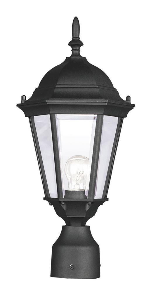 Hamilton Black Livex Outdoor Post Head Lighting Fixture