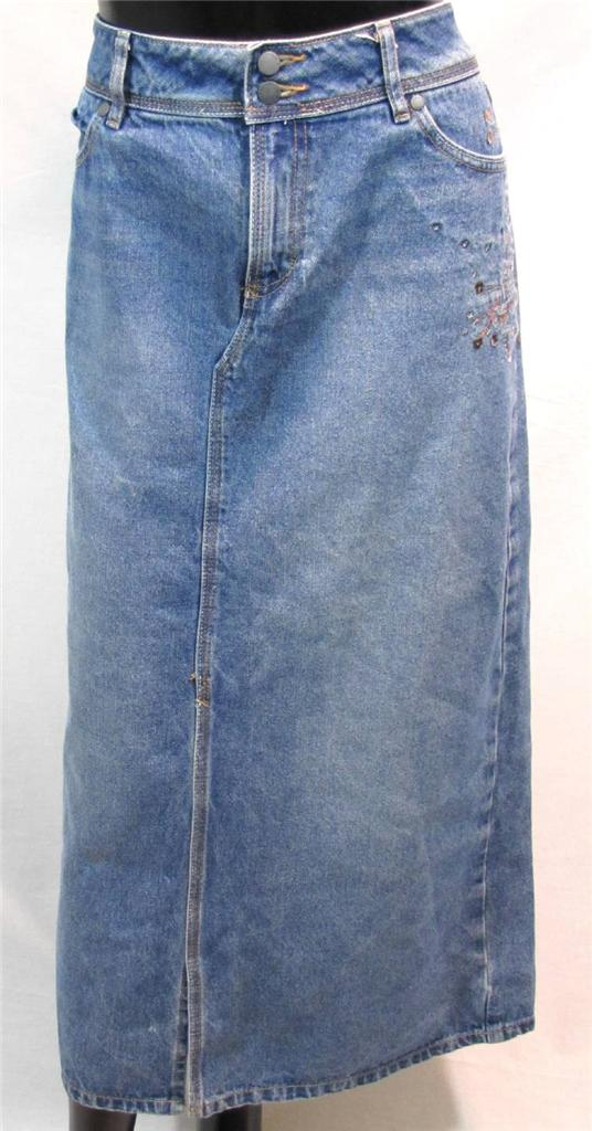 cato womens size 14 jean denim skirt silver brown