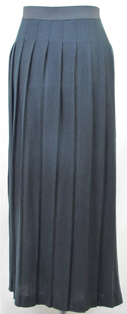 merona womens plus size 4 4x black pleated maxi skirt