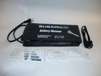 genuine subaru battery warmer fits all models forester. Black Bedroom Furniture Sets. Home Design Ideas