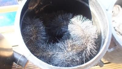 Kockney koi vortex filter with filter brushes for Koi pond vortex