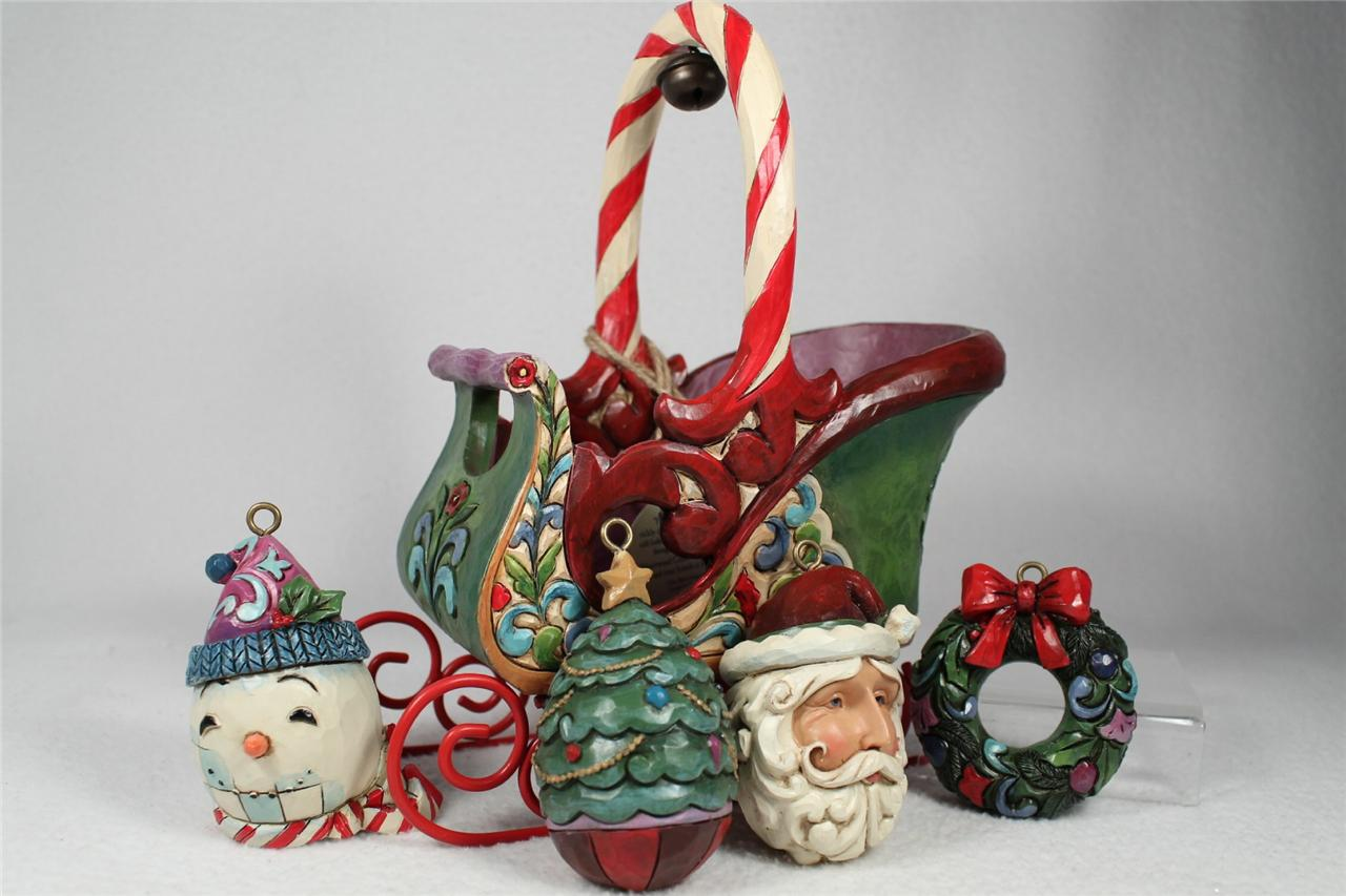 Jim shore 2013 jingle all the way sleigh set of 4 - Ornament tapete weiay ...