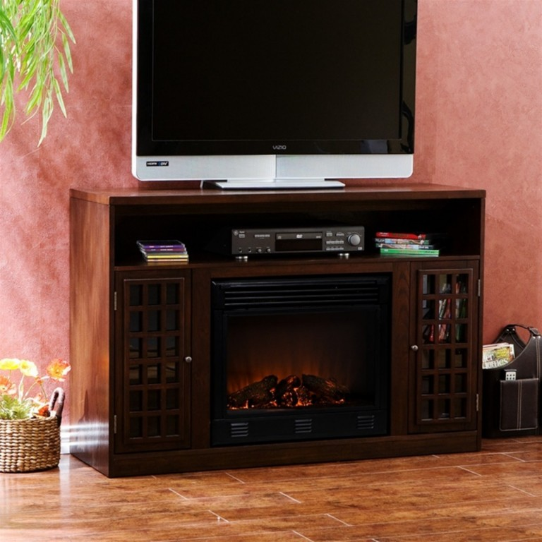LED ELECTRIC FIREPLACE W REMOTE TV STAND MEDIA CABINET EBay