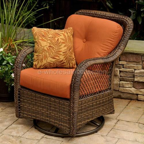 New 4pc Wicker Sofa Table Glider Chair Patio Set Ebay