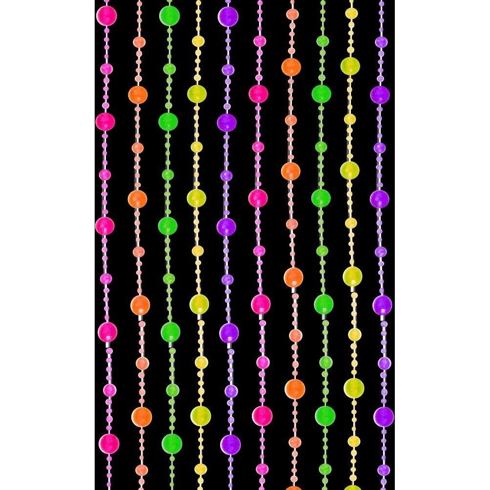 blacklight reactive beaded curtain disco balls