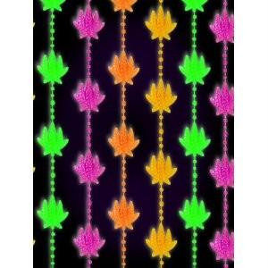 marijuana pot leaf blacklight reactive beaded curtain ebay
