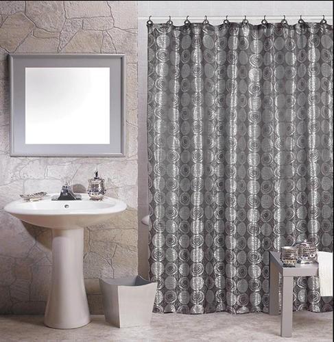 Modern Geometric Print Jacquard Fabric Shower Curtain Hook Rings New Ebay