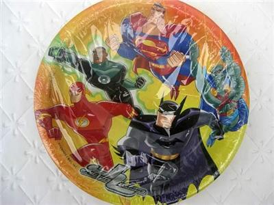 Justice League Cake Decorating Kit : Justice League Party Supplies 8 CAKE PLATES Superman eBay