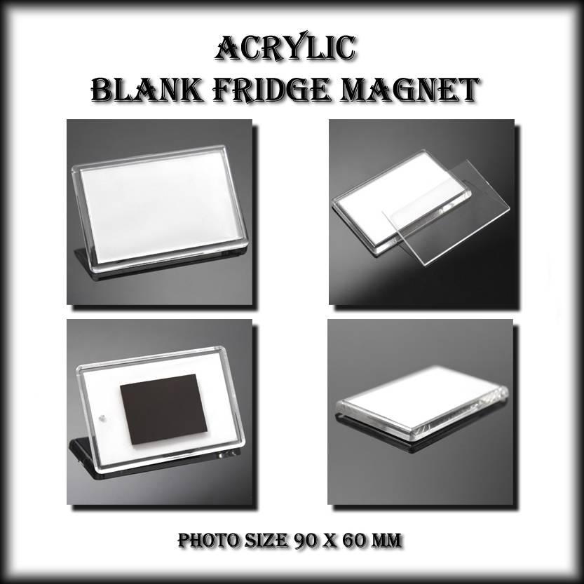 Blank Magnetic Calendar Refrigerator : Jumbo blank fridge magnets mm make your own