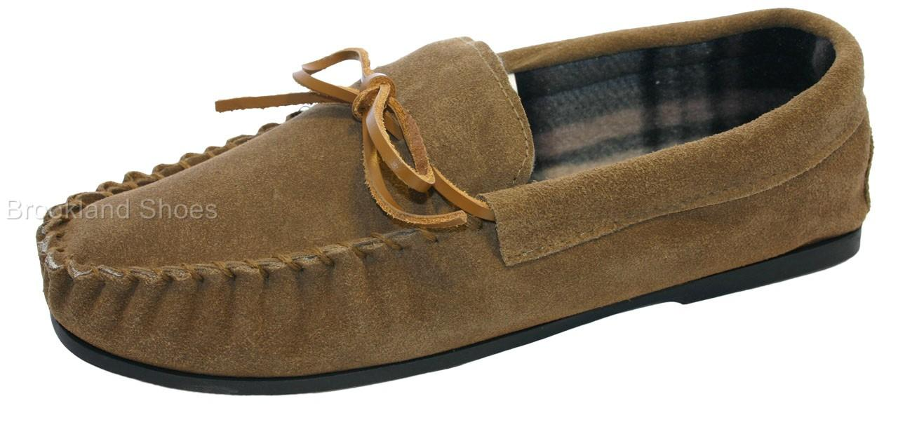 Mens-Coolers-LodgeMok-Real-Leather-Suede-Slippers-Sizes-6-12