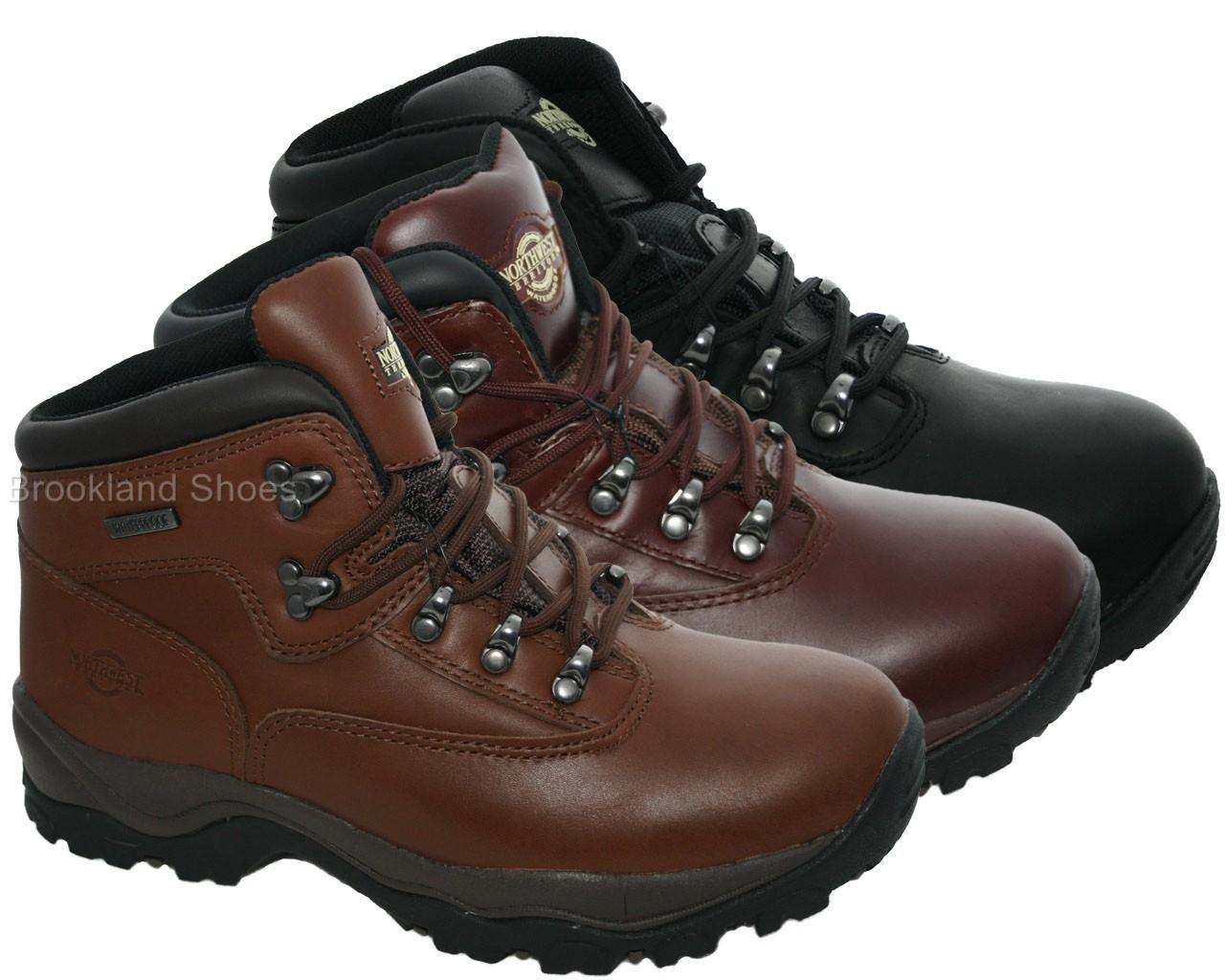Mens-Northwest-Territory-Inuvik-Leather-Walking-Hiking-Walking-Boot-Sizes-6-13