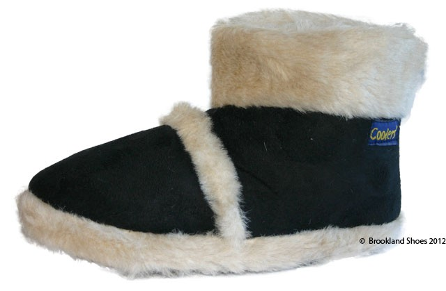 Ladies-Coolers-Furry-Ankle-Boot-Bootee-Slippers-Sizes-3-8