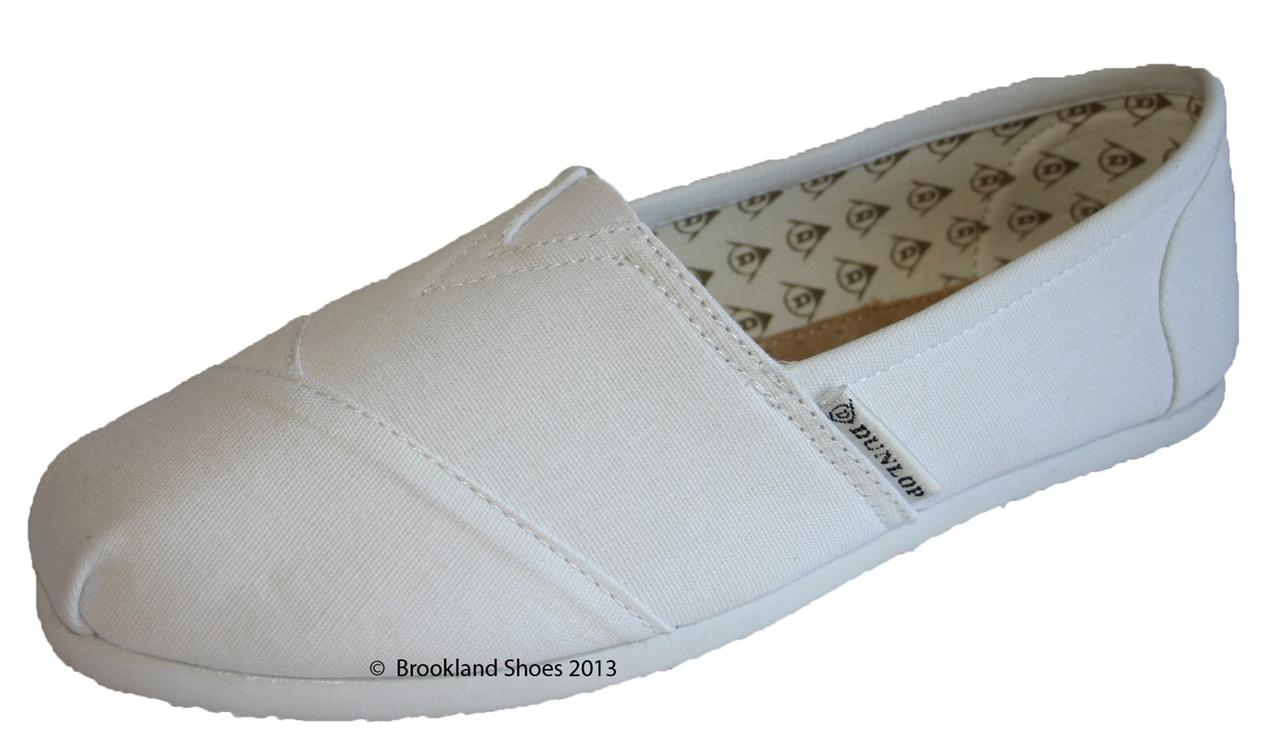 womens dunlop canvas slip on espadrille shoes sneakers