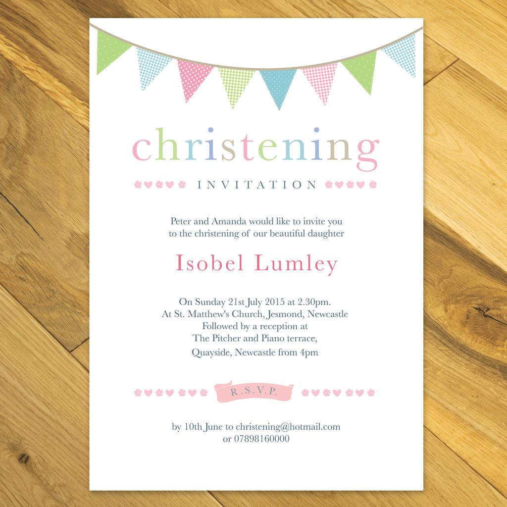 Personalised Boy / Girl Christening / Baptism / Naming Day ...