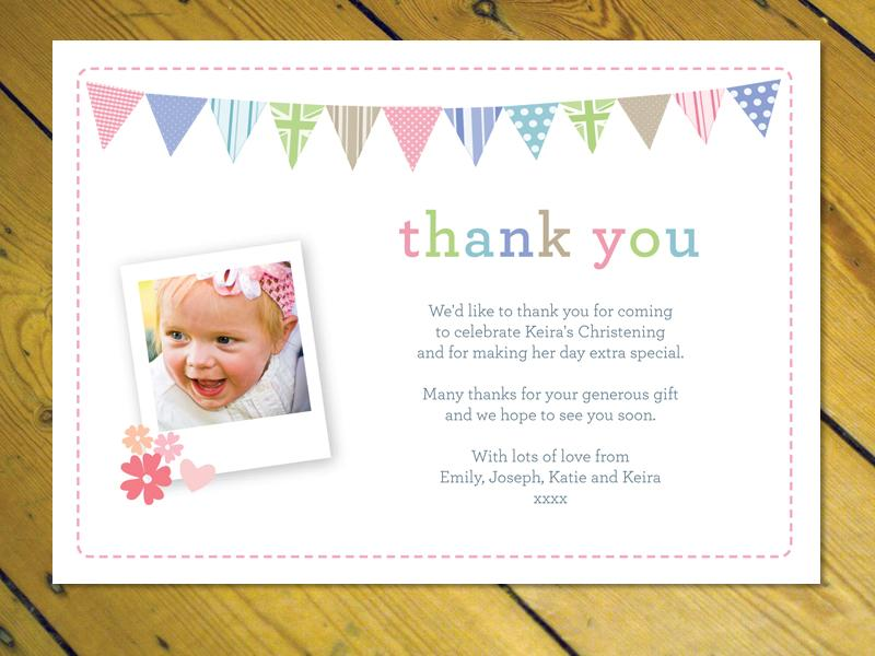 Personalised Thank you cards notes Naming Day Christening Birthday – Personalised Birthday Thank You Cards