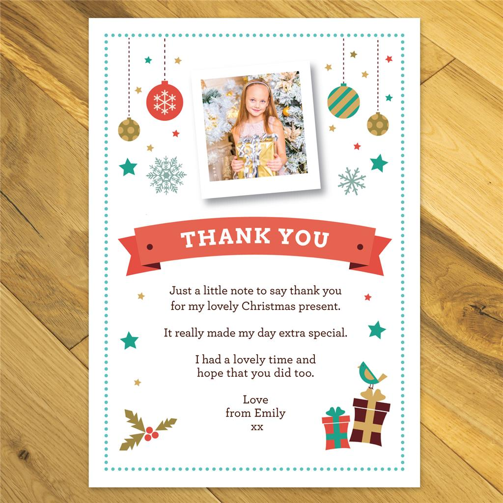 Personalised Christmas Thank you cards and envelopes - photo | eBay
