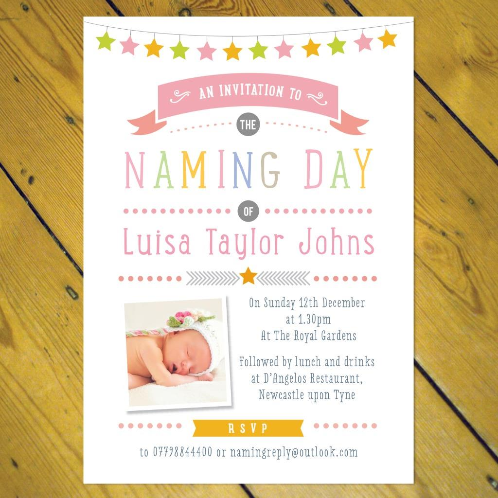 personalised christening naming day invitations girl boy photo ebay
