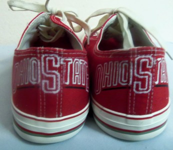 ohio state s white sneakers tennis shoes size 12