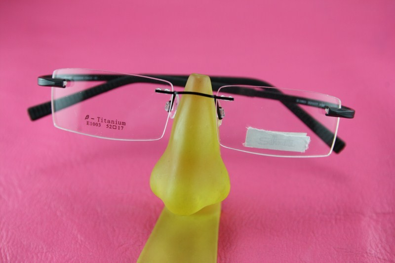 Plastic rimless RX eyeglasses glasses 8216 Spectacle ...