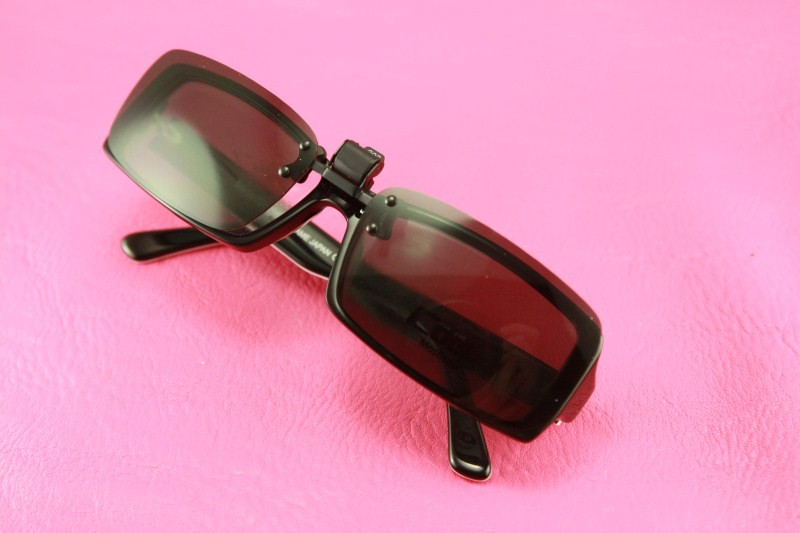polarized lens clip on flip up sunglasses eyeglasses