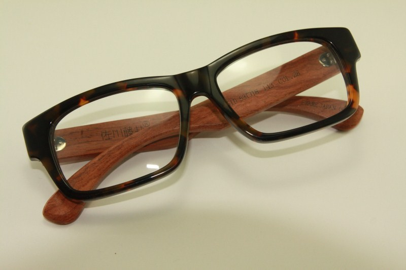 Plastic Eyeglass Frame Polish : Real Wood Temple Eyeglass Glass Plastic Frame 8328 7251D ...