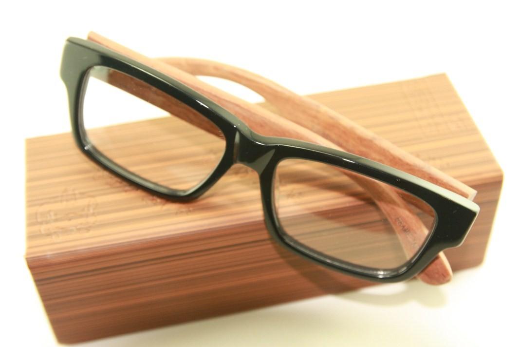 Real Wood Temple Eyeglass Glass Plastic Frame 8328 7251D ...