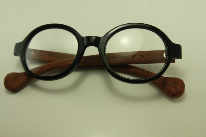 Real wood Temple eyeglass 8332 japanese plastic ROUND ...