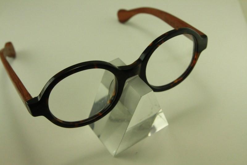 Japanese Plastic Eyeglass Frames : Real wood Temple eyeglass 8332 japanese plastic ROUND ...