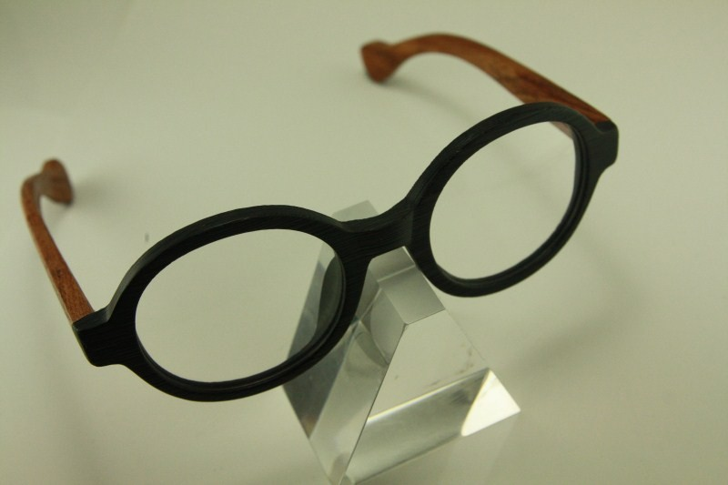 Round Frame Glasses Japan : Real wood Temple eyeglass 8332 japanese plastic ROUND ...