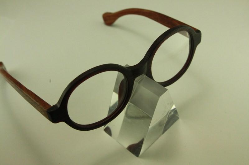 Real wood Temple eyeglass 8332 japanese plastic ROUND ...