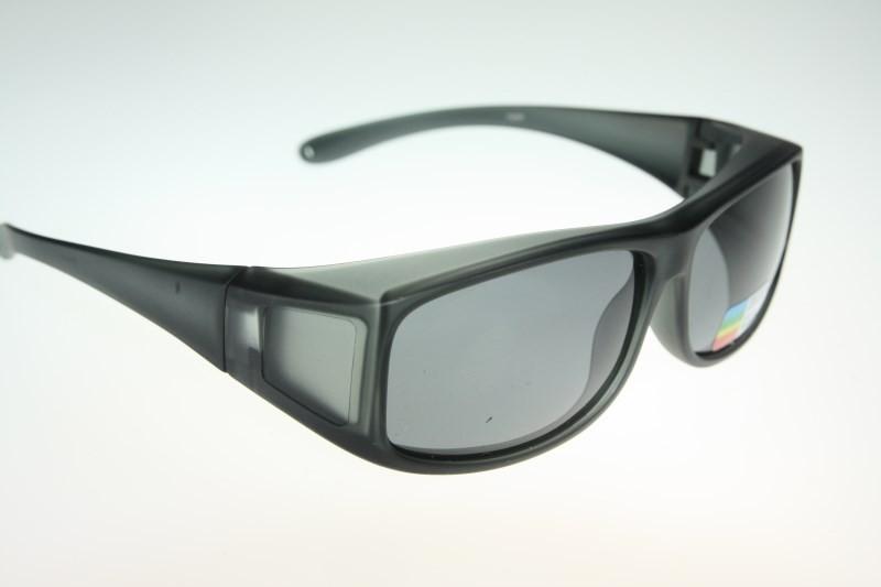 372 plastic Polarized wraparound Sunglass Clip wear fit ...