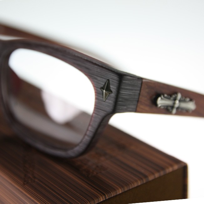 Japanese Plastic Eyeglass Frames : SAGAWA FUJII Real wood Temple Japanese plastic frame ...