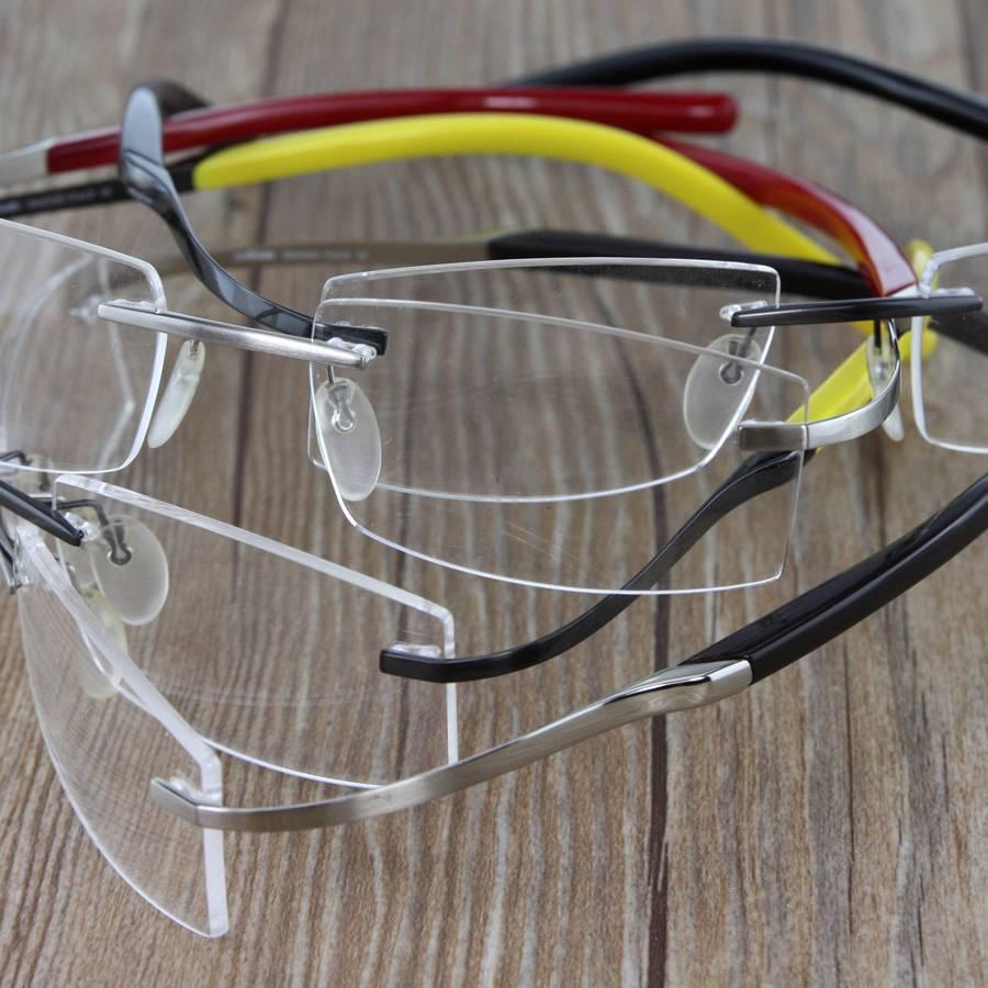 Rimless Screwless Eyeglass Frames : 8428 Flexible Betta Titanium Rimless RX Eyeglasses ...