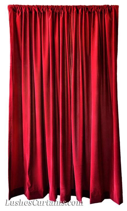 Decorative wide theater backdrop drapes burgundy velvet 3 for Velvet curtains background
