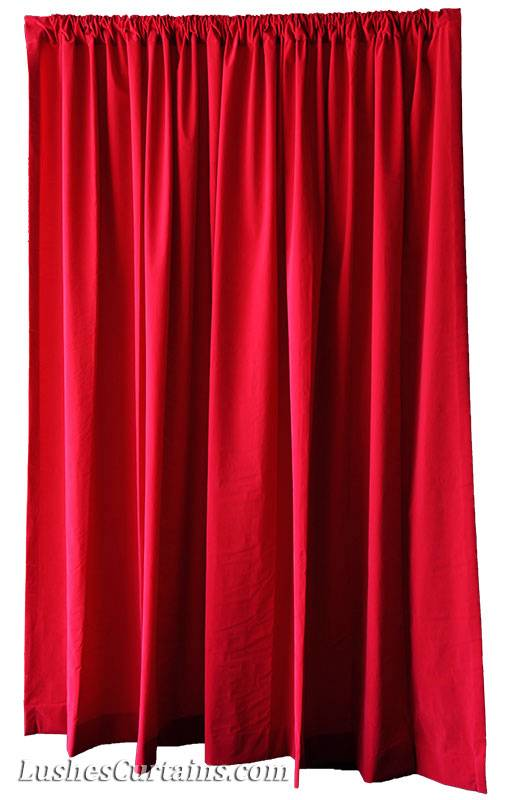 ... /Wedding Backdrop Cherry Red Velvet 10ft H Curtain Long Panel | eBay