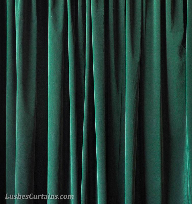156 inches high ceiling forest green velvet curtain long