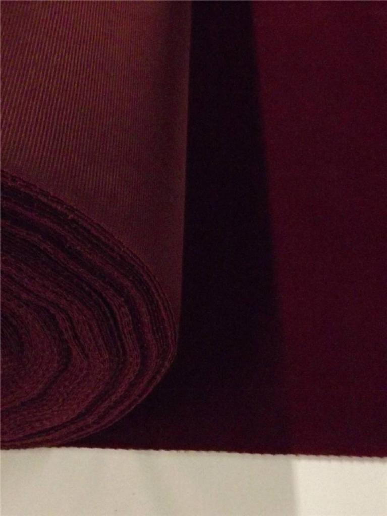 Burgundy flock velvet fabric upholstery crafts curtain for Velvet material for curtains