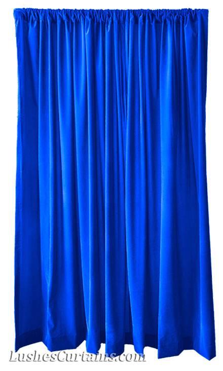 13 Ft H Royal Blue Velvet Curtain Long Drape Panel Wedding
