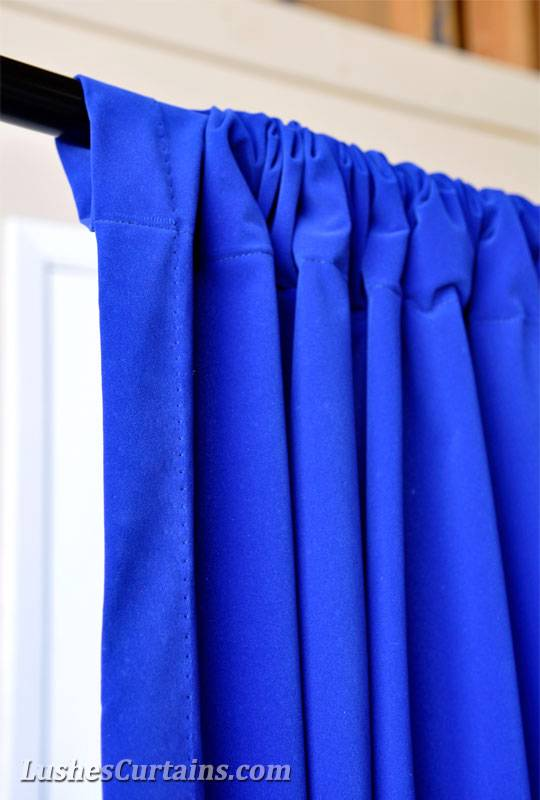Curtains Ideas blue velvet curtains : 16 ft Extra High Royal Blue Velvet Curtain Long Panel School ...