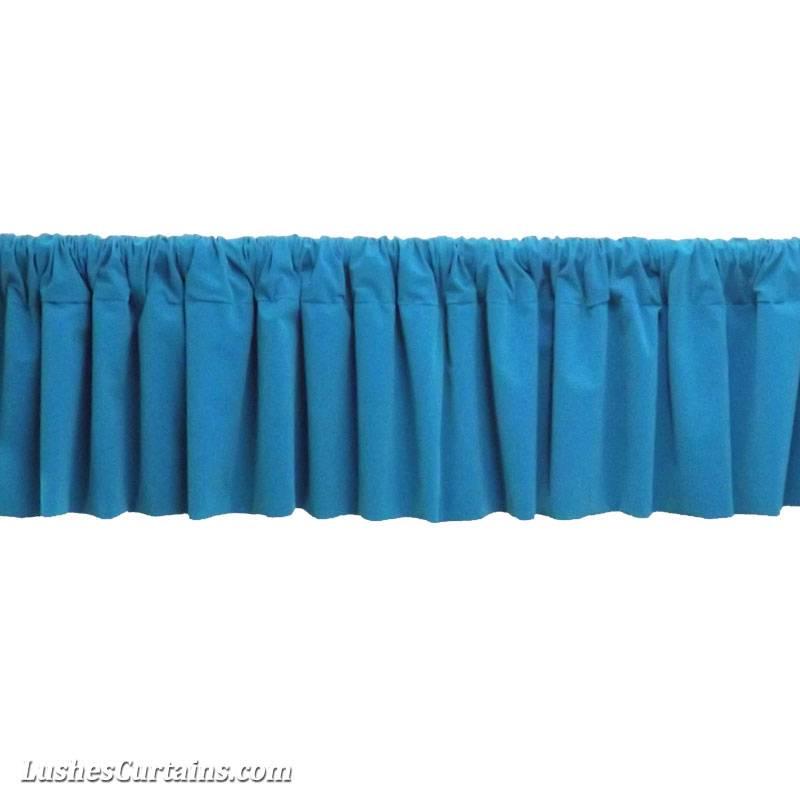 Window Treatment Turquoise Rod Pocket Curtain Topper Velvet Valance Panel Drapes Ebay