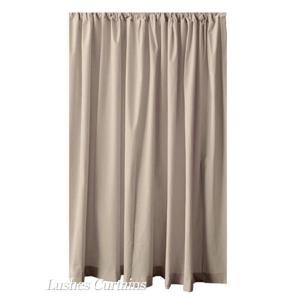 extra length beige 120 h velvet curtain long panel media room office drapery ebay
