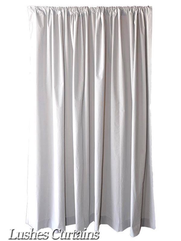 extra length gray 120 inch h velvet curtain long panel banquet room office drape ebay. Black Bedroom Furniture Sets. Home Design Ideas