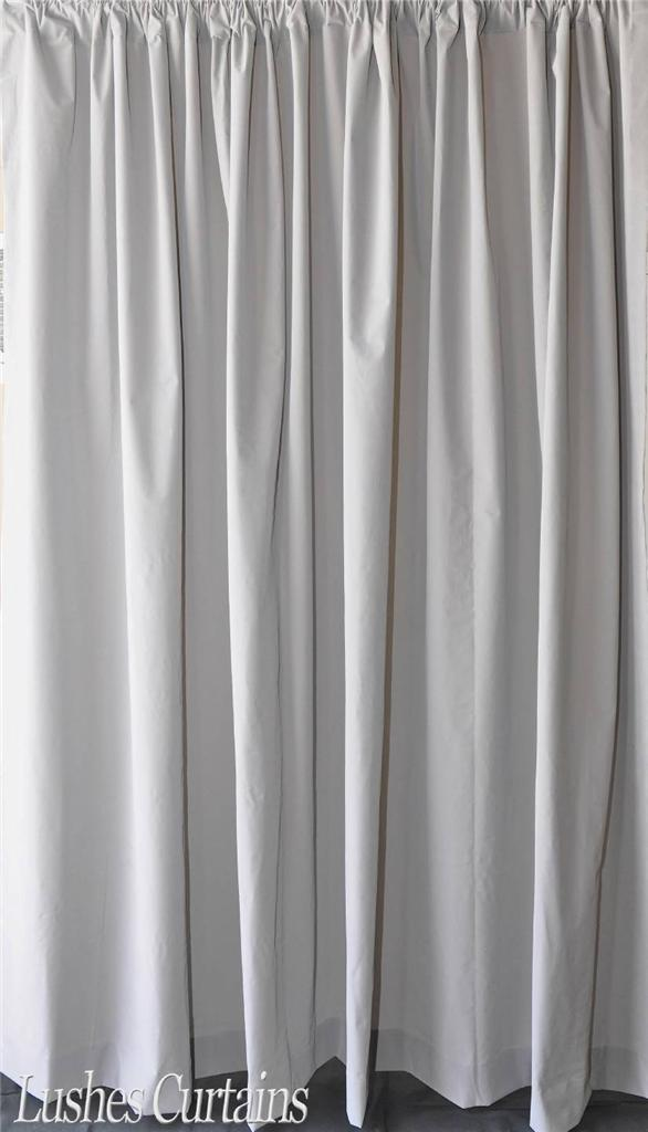 Extra Length Gray 120 Inch H Velvet Curtain Long Panel Banquet Room Office Drape Ebay