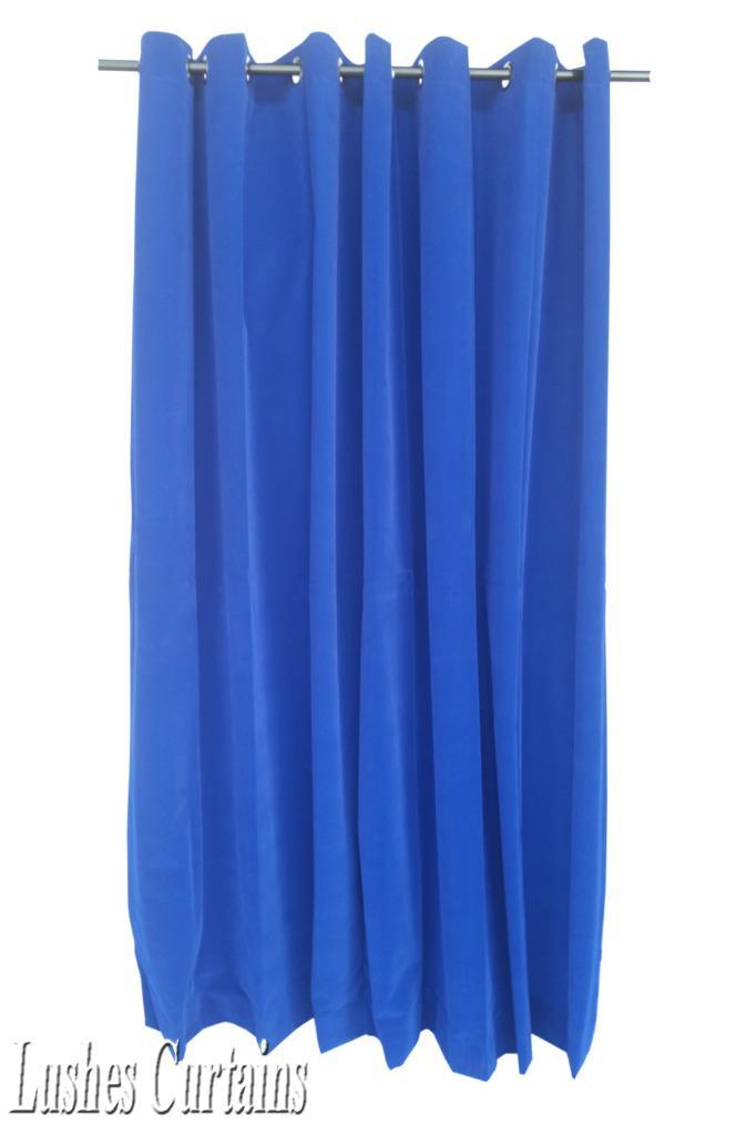 Royal Blue 96 H Velvet Curtain Panel W Grommet Top Eyelet Window Treatment Drape Ebay