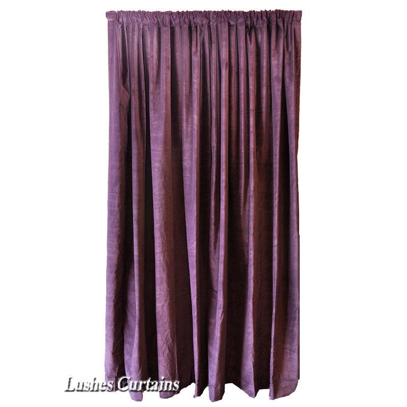 Details about purple 72 quot h velvet velour curtain long panel custom