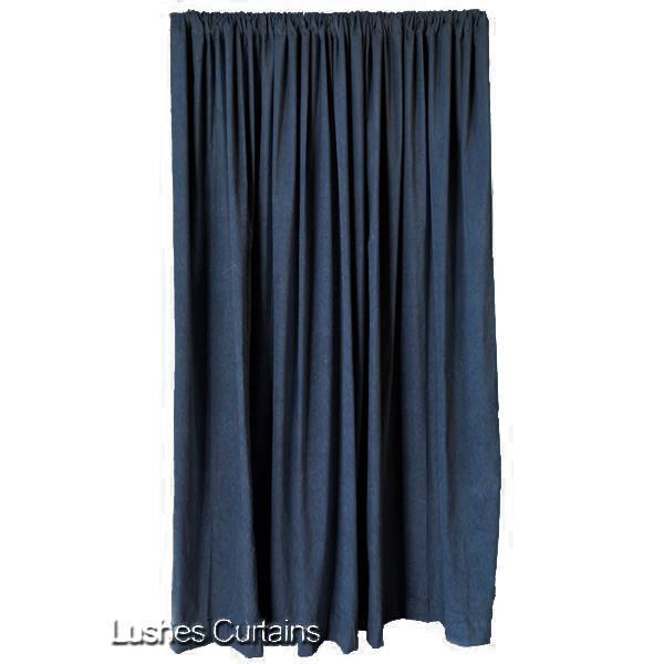 Blue 84 H Velvet Curtain Panel Noise Sound Reduction Room Divider Velour Drape Ebay