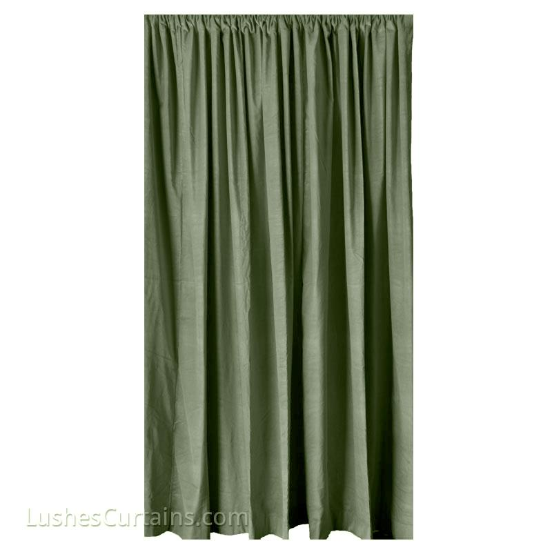 Green 108 Inch High Velveteen Noise Sound Reduction Drape Thermal Curtain Panel Ebay