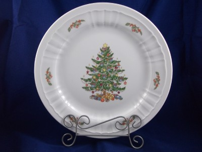 eschenbach porcelain christmas tree holiday chop plate bavaria germany. Black Bedroom Furniture Sets. Home Design Ideas