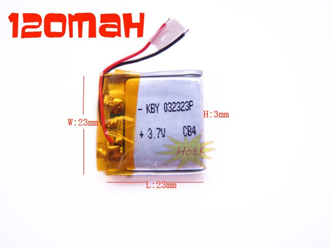 Details about 3.7V 120mAh Lithium Polymer Battery For Ipod Mp3 GPS