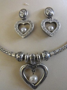 Brighton Heart Pearl Necklace And Earrings Women